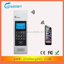 gsm wireless video door phone connect mobile phone unlock