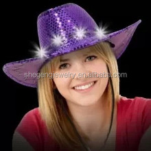 LED Sequin Cowboy Hat with Stitching