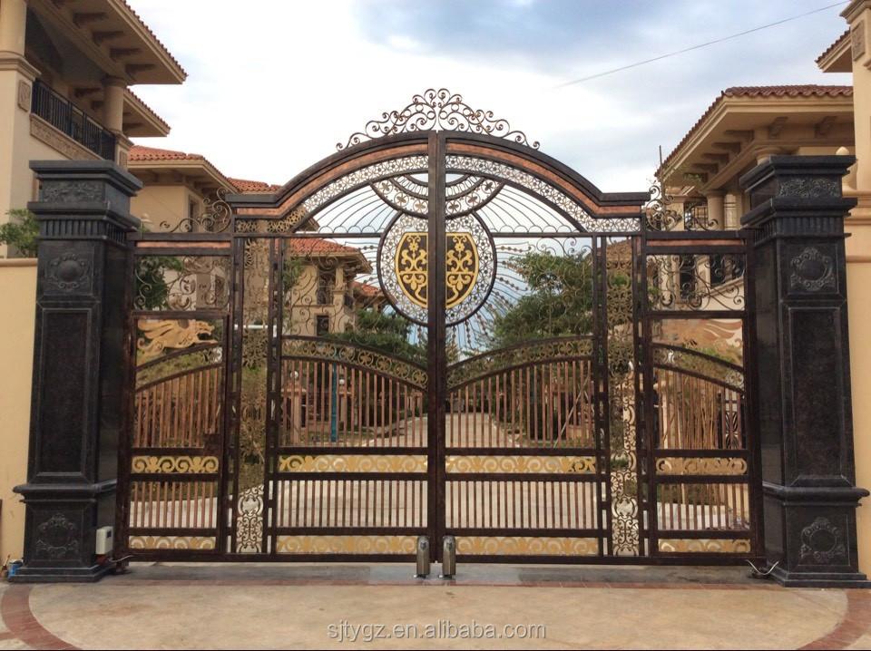 Incroyable forg fer porte villa conception fer fantaisie porte id de produit 60411862690 for Porte villa en fer