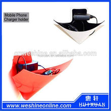 Creative DIY foldable mobile phone charger holder