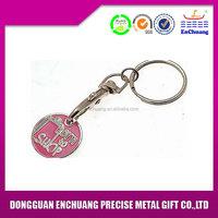 Bottom price latest zinc alloy round blank metal keychain