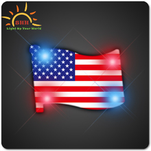 different country's nation flag flashing led badge for promotion