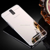 Fashion Acrylic Mirror Back Cover Aluminum Metal Frame Case For OPPO R7007,R7005, OPPO R3
