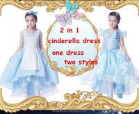 2 in 1 movice cinderella dress original style high quality cinderella wedding dress both side wear