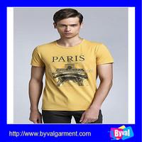 Custom printed t-shirt plain t-shirts for printing back men's fitted t-shirts