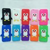 3d Cute penguin soft silicone back cover for iphone6, for cell phone case iphone6