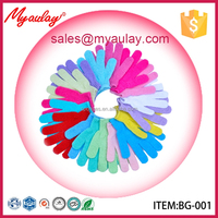 2015 Factory wholesale top quality beautiful popular body exfoliating glove for target audit BG-001