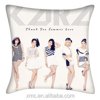 costoming cheap wholesale korea famous super star fancy picture printed pillow