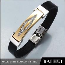 Couro Fashion sonho de pulseira de ouro atacado para homens e mulheres / aço inoxidável sonho de pulseira de ouro