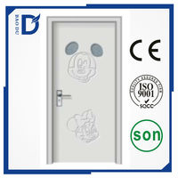 safety PVC wooden door design for interior room