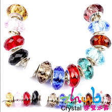 Home Adornment/ Shoes Decoration Large Hole Crystal Glass Beads Glass European Beads