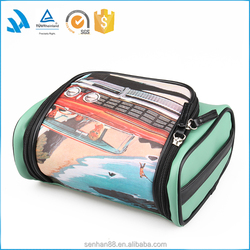 2015 Cheap printed lip transparent travel personalized bulk high quality leather toiletry cosmetic bag