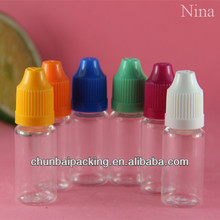 SGS/TUV 10ml used pet bottles in bales with childproof cap made in china