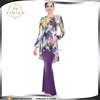 Wholesale Muslim Wear Fashion Baju Kurung Printed Design