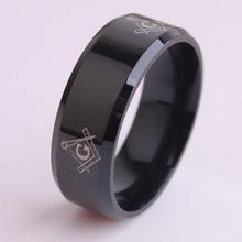 Titanium silver 316l stainless steel rings men ring, black gold silver free manson ring