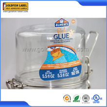 Hot sale permanent adhesive waterproof labels for glass
