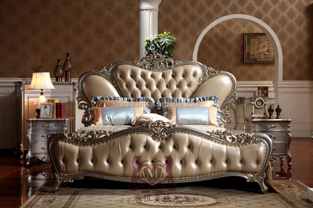 Italie style marque nouvelle chambre coucher meubles royale de luxe chambre meubles set or Chambre a coucher lit king size