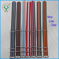 18mm 20mm 22mm 24mm Hot Sale Striped Line Color NATO Watch Strap