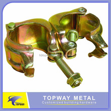 Galvanised 48.6mm JIS 90 degree pressed Korea swivel coupler
