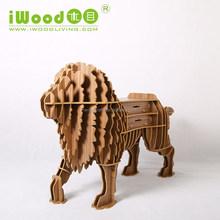 9mm MDF lion animal shape wood ornaments for furniture