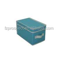 Home goods storage bin with lid and handle,non-woven fabric