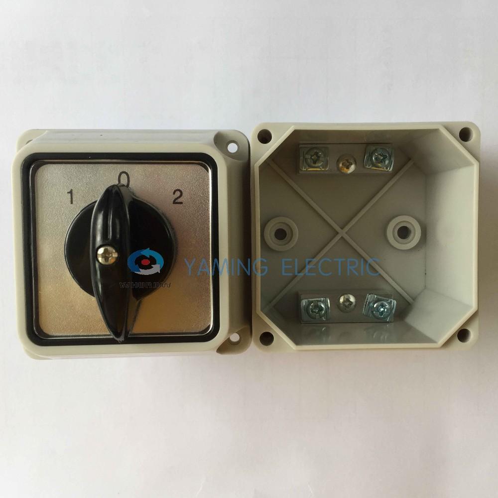 commutateur lectrique 32a 3 position 2 p les commutateur rotatif avec eau housse de protection. Black Bedroom Furniture Sets. Home Design Ideas
