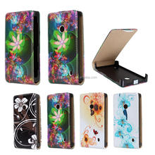 Low price Flower Patter Leather Flip phone case for Nokia Lumia 520, for Nokia Lumia 520 case leather