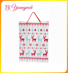 promotional high quality paper bags for Chrismas