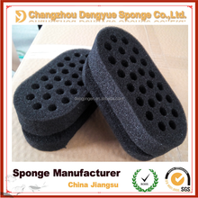 2015 New style amazing sponge with different styles and holes twist sponge hair brush