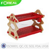 22 inches wood&abs plate holder with plastic tray