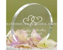 decorative round acrylic cake topper