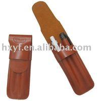 leahter pen holder