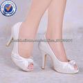CHY02 talón blanco, boda, zapatos de noche zapatos de las bombas de alta