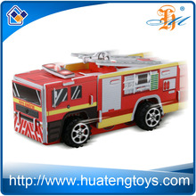 Huateng wholesale fire truck educational toy 3d diy puzzle for adults and kids