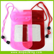 2015 New Style Hot Sale Button Closure PVC Waterproof Phone Case
