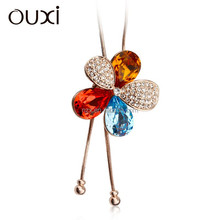 OUXI New arrival ladies fashion latest fashion jeans chain made with Swarovski elements 11041-1