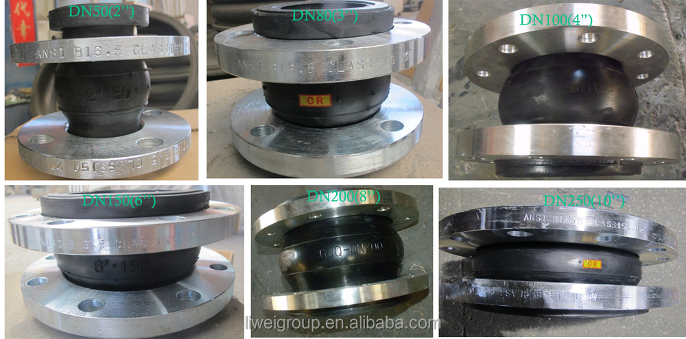 DN2800 EPDM PN6 rubber expansion joint for Nuclear power plant