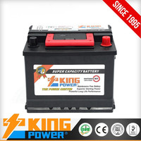 Korean design car battery DIN55MF 12V55AH