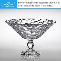 new arrival caech republic crystal large antique decorative fruit dessert glass bowls