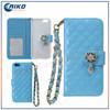 pendant shaped diamond fashionable mobile wallet wristlet for iphone 6