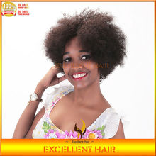bleached knot natural hair line indian remy lace wig machine made for women afro kinky human hair wig