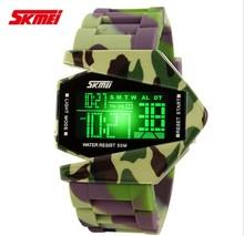 Individuality creative man LED waterproof watch, shockproof electronic watch, students retro men's watch