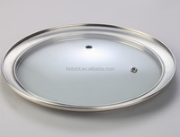 Hot sale high quality clear tempered glass pot cover for cookware