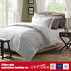 Quality Bed Linen 250TC Cotton Satin Embroidery Luxury Linen For Hotels