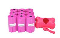 epi biodegradable pink dog waste bags on roll