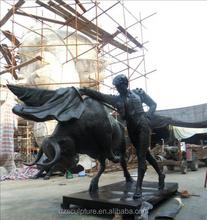 Spanish bullfight sculpture with life size matador
