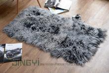 Wholesale High Quality long hair Tibetan mongolian sheep fur plate