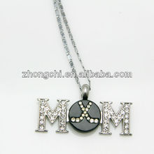 Sport jewelry sport necklace, hockey MOM ball necklace wholesale