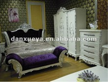 European solid wood hotel bedrooms furniture bed
