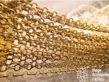 fantastic raw brass chain cable chain open links
